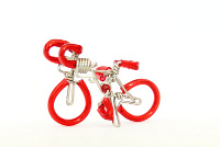 Wholesale Mini Wire Art Road Racing Bikes - Red