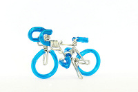 Wholesale Mini Wire Art Road Racing Bikes - Skyblue