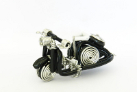 Wholesale Mini Wire Art Scooters - Black