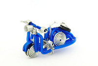 Wholesale Mini Wire Art Scooters - Royal Blue