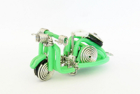 Wholesale Mini Wire Art Scooters - Green
