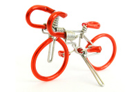 Compare size: LARGE version of the mini wire art road racing bike.