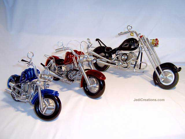 Wire Art Motorcycle MOTO-D102 - Wholesale wire art motorcycles, motorbikes - Exporter, manufacturer, directly from Thailand, JediCreations