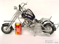 Wire Art Motorcycle MOTO-D101 - Wholesale wire art motorcycles - Exporter, manufacturer, directly from Thailand, JediCreations