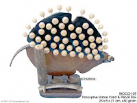 WOCO-109 - Porcupine Name Card & Pencil Box - innovative wholesale wood, coconut, manufacturer exports JediCreations