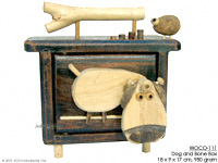 WOCO-111 - Dog and Bone Box - innovative wholesale wood, coconut, manufacturer exports JediCreations