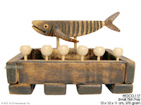 WOCO-117 - Small Fish Tray - innovative wholesale wood, coconut, manufacturer exports JediCreations