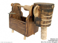 WOCO-118 - Cave Man Box - innovative wholesale wood, coconut, manufacturer exports JediCreations